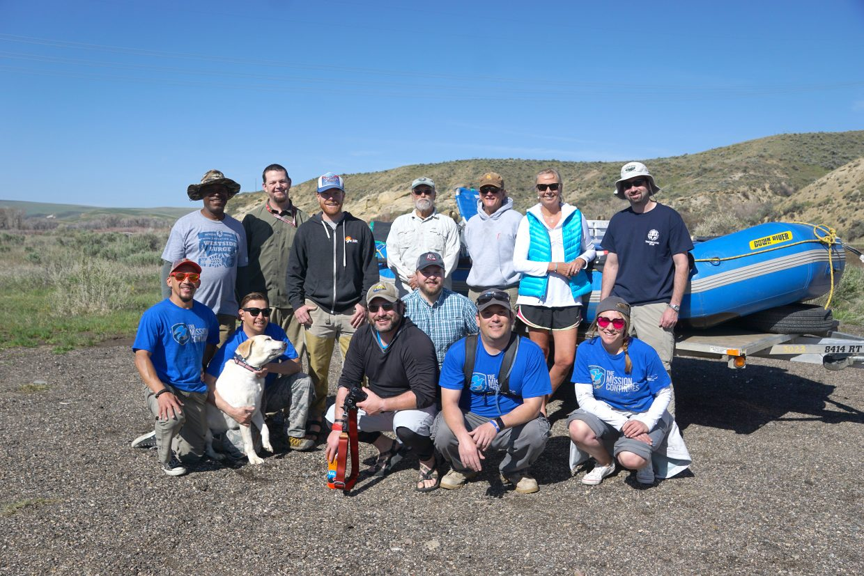 Veterans from The  Mission Continues joined agency and organizational partners in the first of two river trips to improve campsites on the Yampa River.