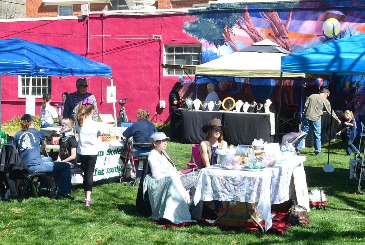 Vendors display there wares at Saturday's inaugural Downtown Business Expo.