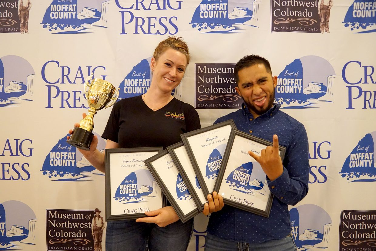 Vallarta's winning five Best of Moffat County categories.