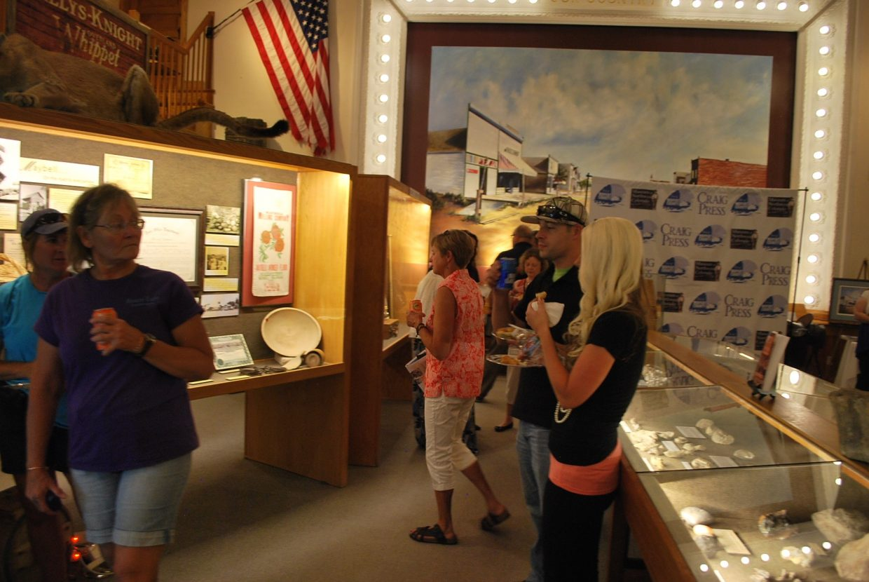 Residents looked at some of the display cases of artifacts important to Craig and the county to learn its history.