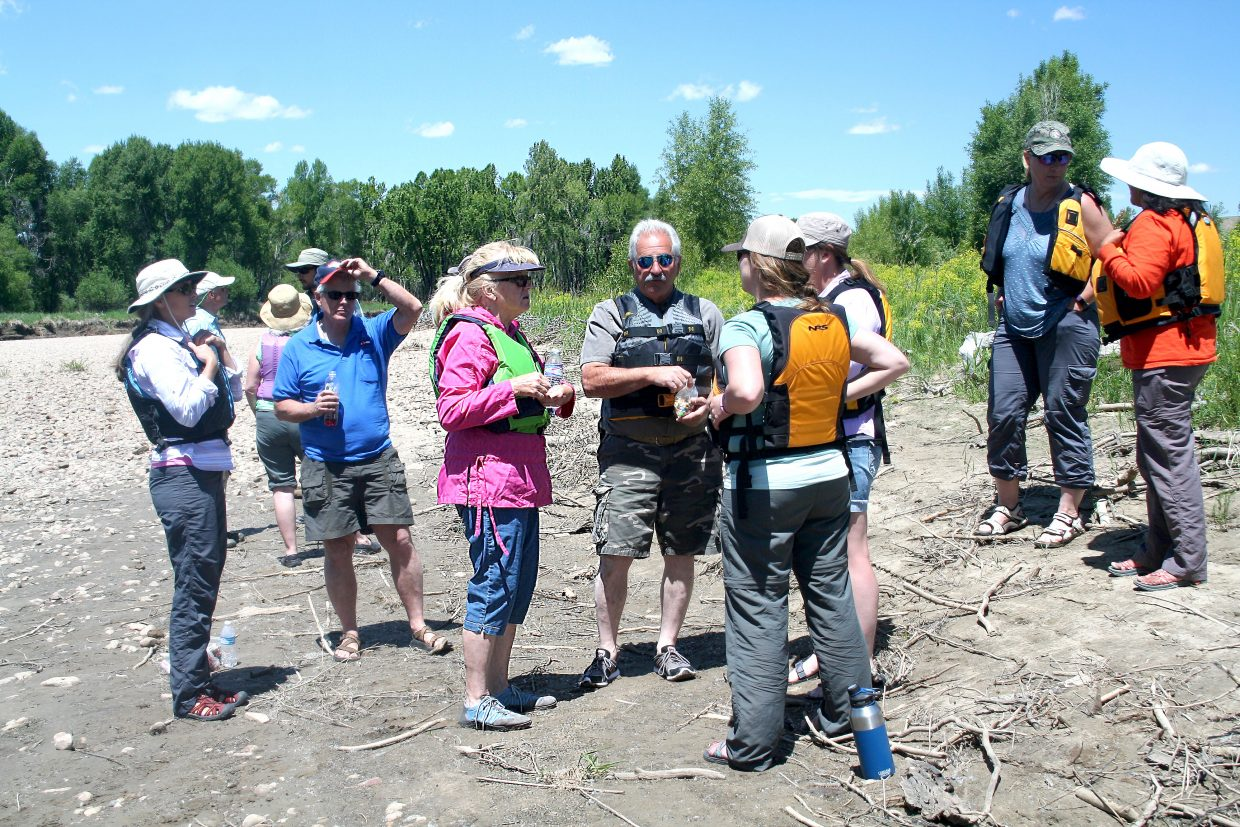 About 15 people participated in the Fourth Annual Yampa River Leafy Spurge Project