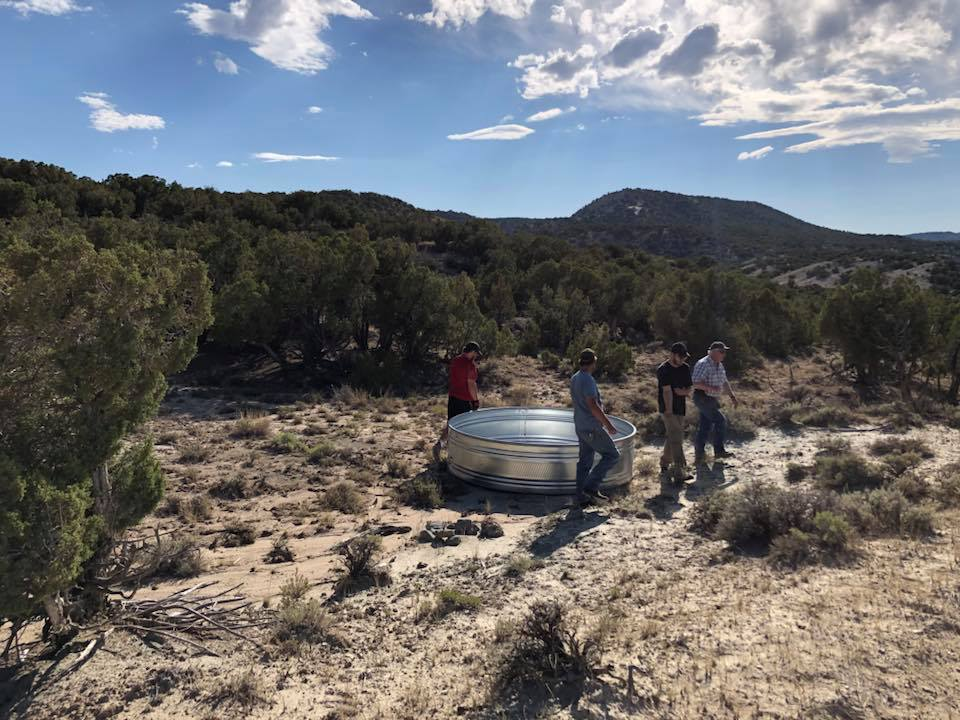 The location of the stock tanks and additional structures to prevent drowning of small birds and animals, are permitted by the BLM.