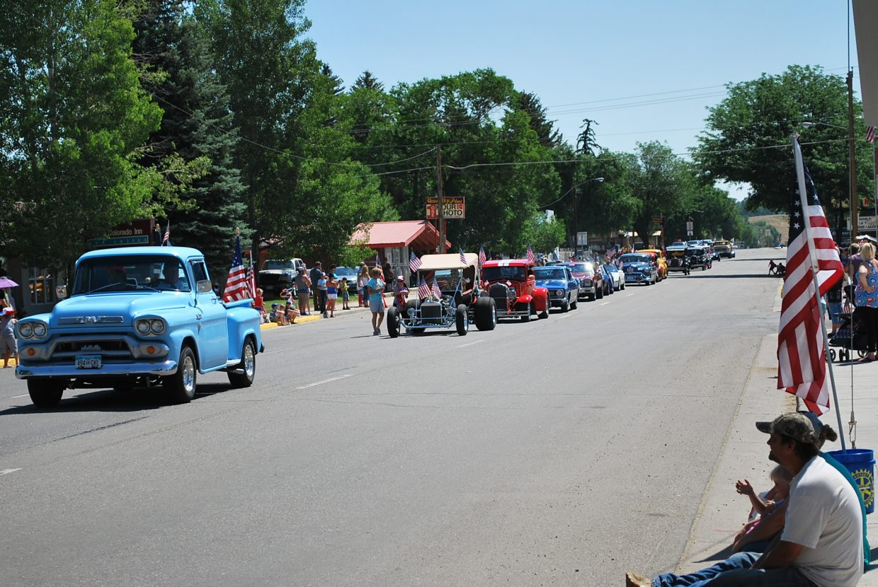 Besides parade floats, vintage cars of many makes and models got their day in the sun.
