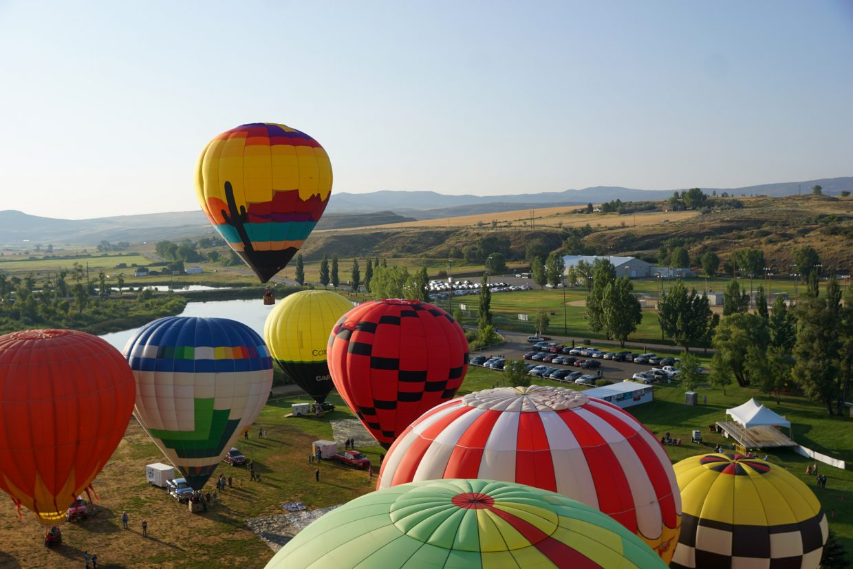 The 2018 Moffat County Hot Air Balloon Festival attracted 32 balloons, pilots and crew.