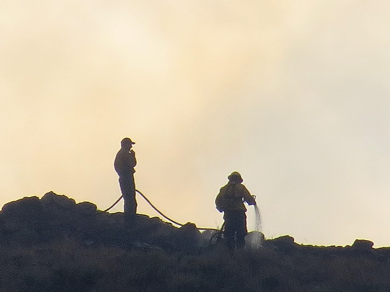 Firefighters worked on the ground and in the air to quickly suppress the Cedar Mountain Fire.
