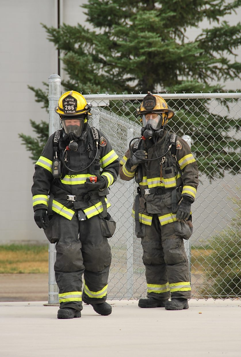 The training exercise required everyone to be wearing full uniform and equipment.
