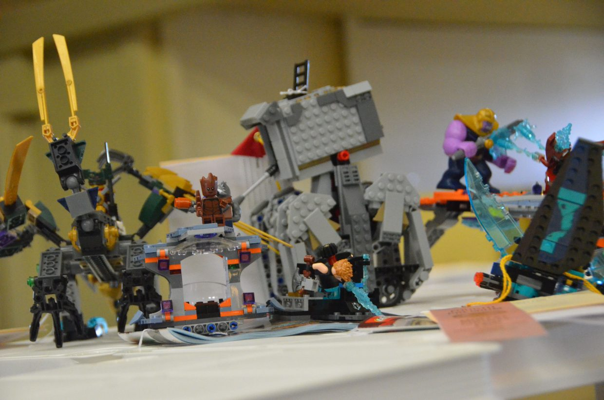 An epic Lego battle is on display in the pavilion of Moffat County Fairgrounds.