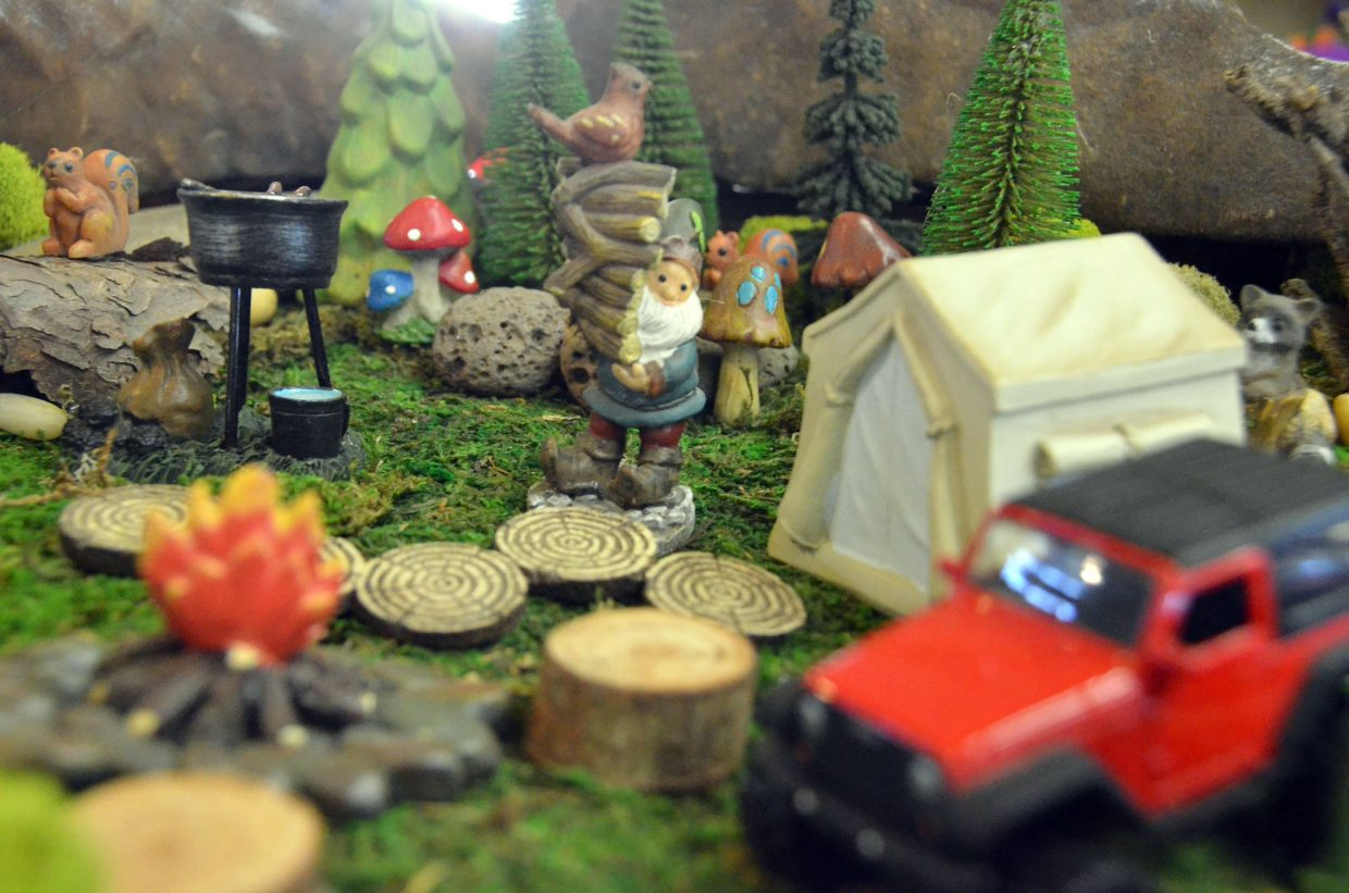 A woodland scene is on display in the pavilion of Moffat County Fairgrounds.