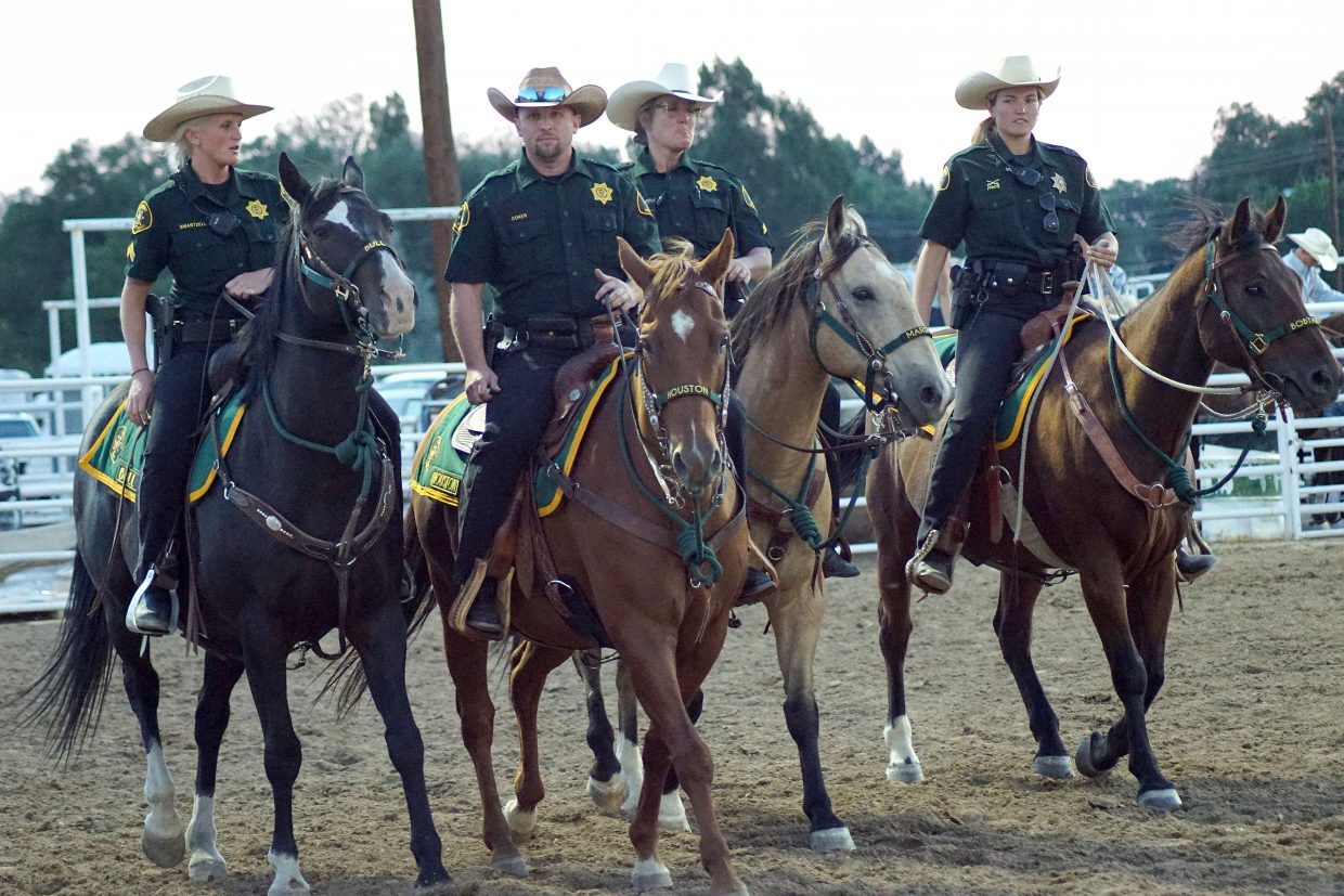 Moffat County Sheriff's Office Mounted Division was among the local first responders honored during the fourth annual Ridin' & Riggin' Days at the 2018 Moffat County Fair on Thursday.