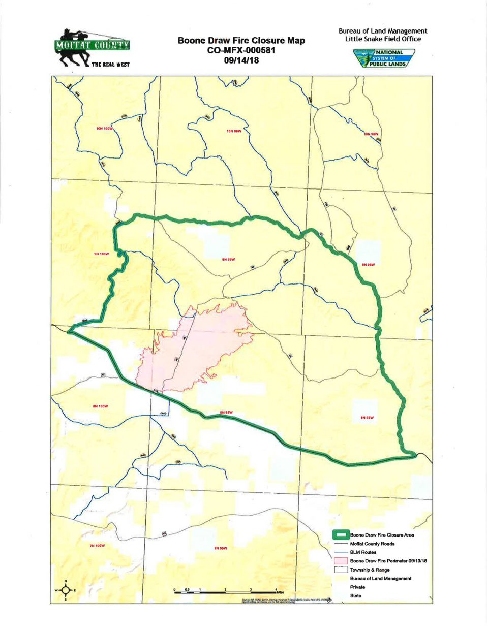 Fires Colorado Map.Northwest Colorado Fire Management Unit Now Managing Boone Draw Fire