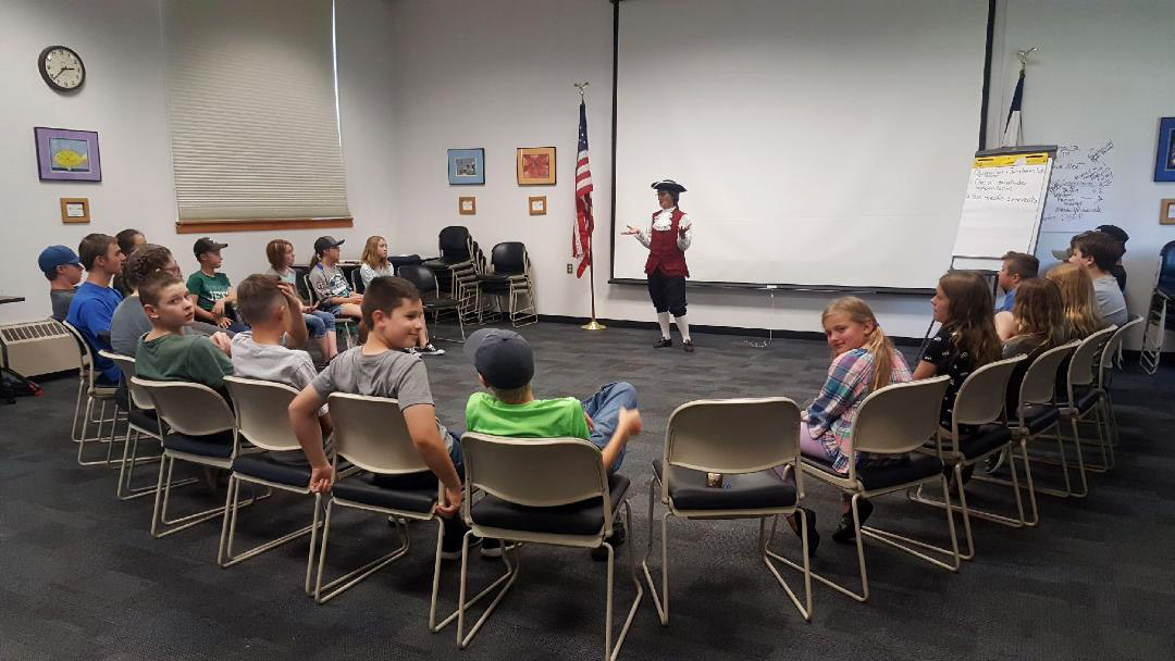 Students attending Moffat County Shared School joined in Constitution Week events.