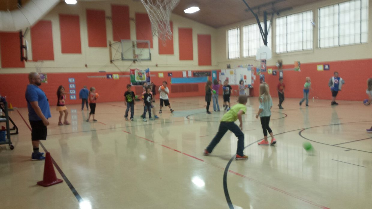 Constitution Week got physical in John Ford's physical education classes at Sunset Elementary school. Students learned fairness in representation during their games.