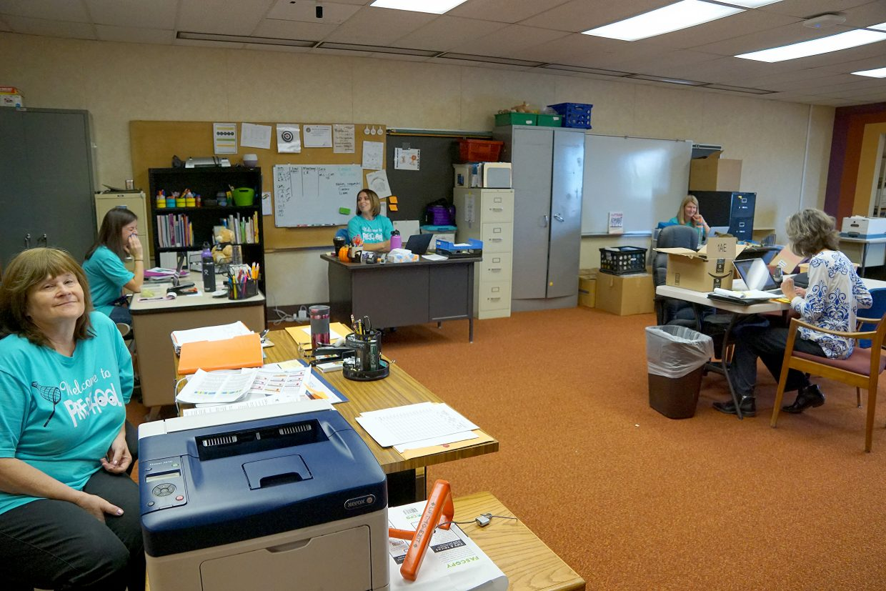 Early Childhood specialists who were once itinerate, because they had to travel between five preschool locations, are now housed in the same office space.