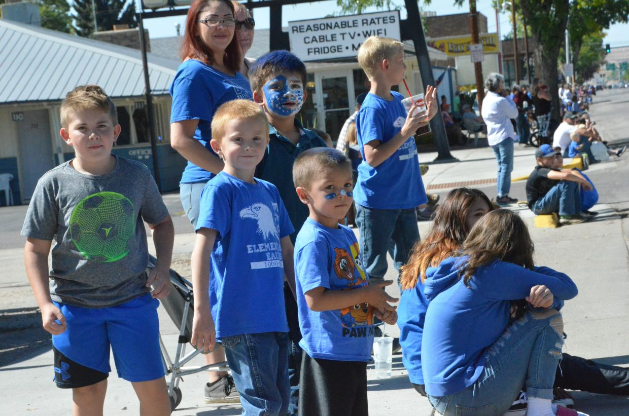 The crowd eagerly awaits the start of the Moffat County High School Homecoming parade Friday.
