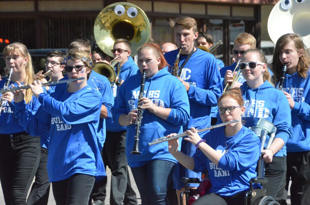 The Moffat County High School band performs Michael Jackson's