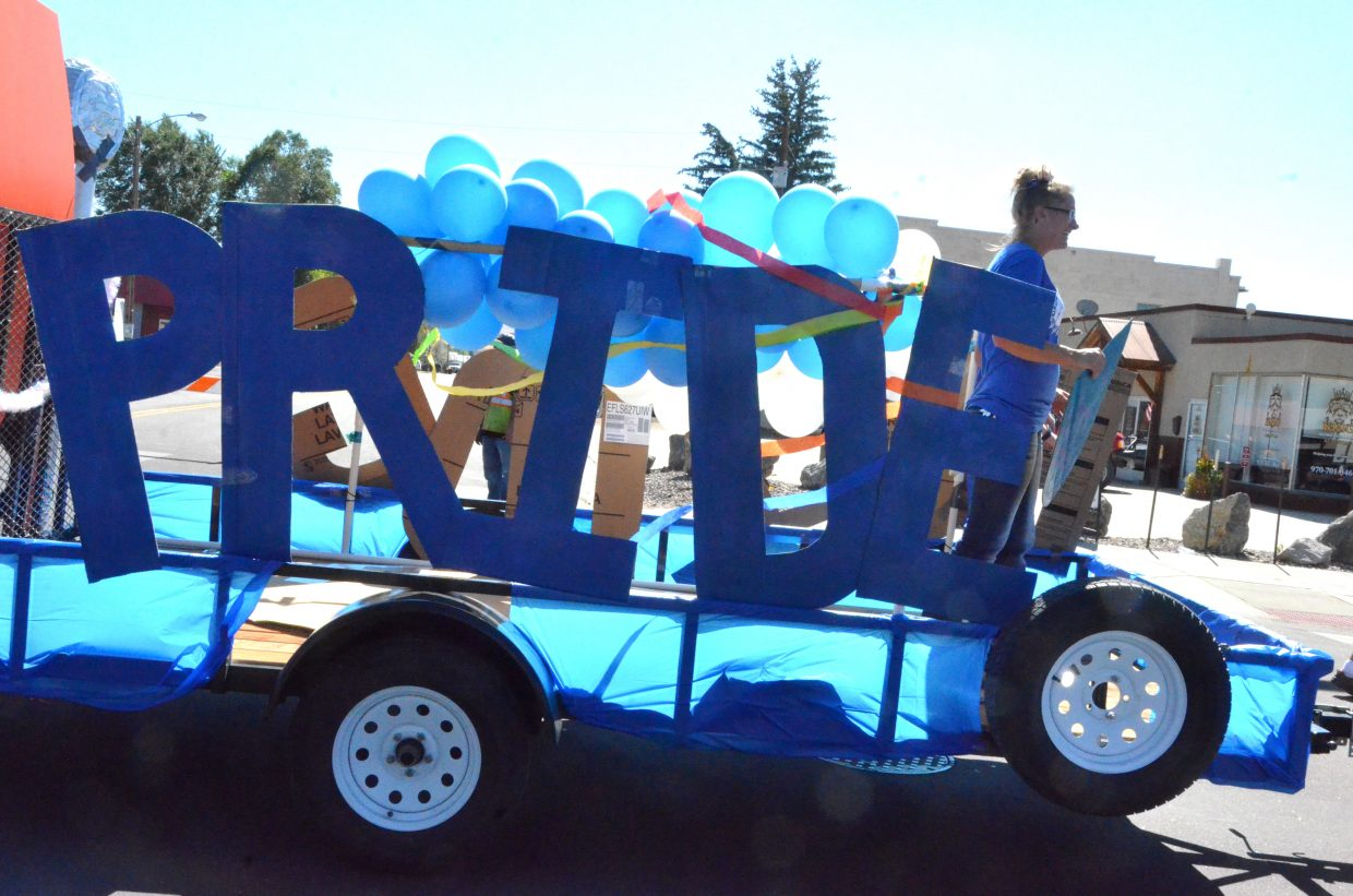 Bulldog pride speaks volumes during Moffat County High School's Friday Homecoming parade.