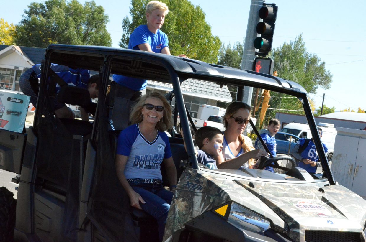 Vehicles of all sizes hit the road during Moffat County High School's Friday Homecoming parade.