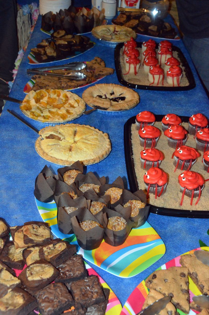 A fully stocked dessert table awaits patrons at Craig Chamber of Commerce Crabfest.