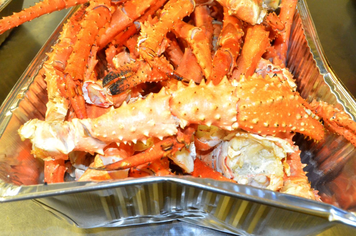 Hundreds of pounds of king crab legs were the main course at Craig Chamber of Commerce Crabfest.