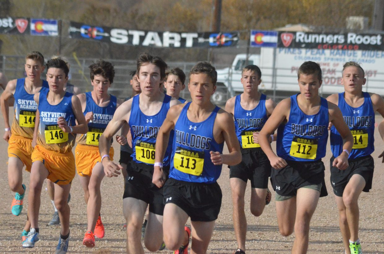 The Moffat County High School boys team gets a strong start to the 3A State Championships.