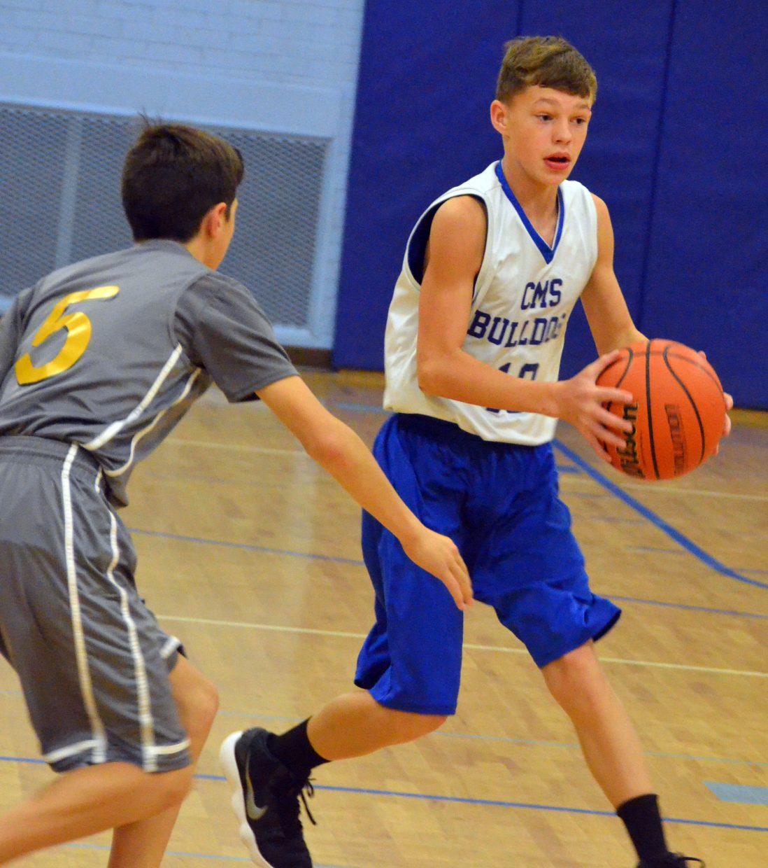 Craig Middle School's Boden Reidhead looks to pass.