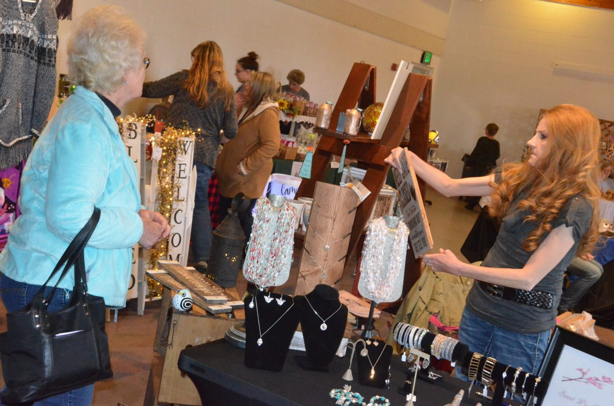 A variety of booths from local vendors were available at Saturday's Holiday Craft Show at Center of Craig.