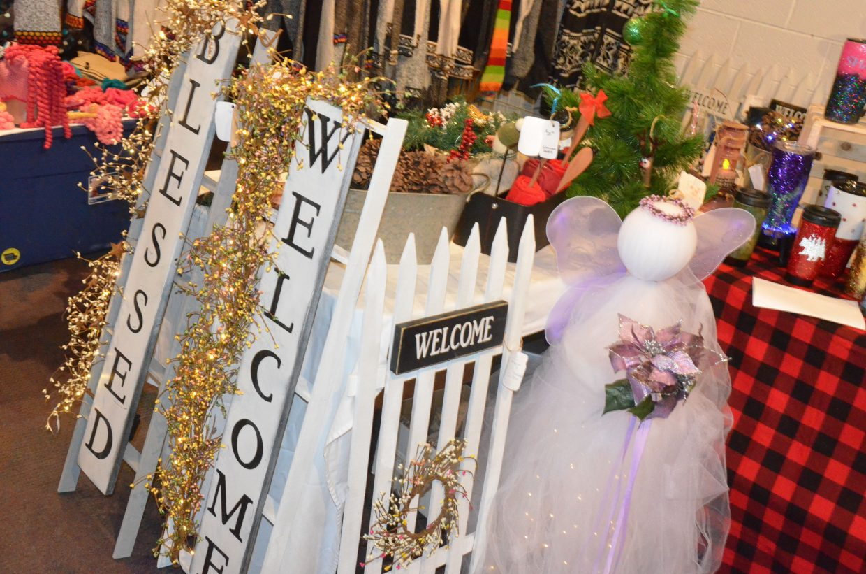 Outdoor decorations and more were part of the inventory at Saturday's Holiday Craft Show at Center of Craig.