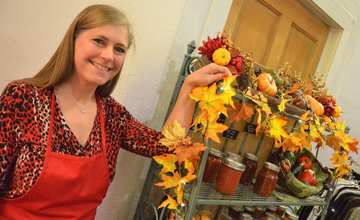 Tina Fox has a multitude of canned goods and gift baskets through Tina's Creations as part of Saturday's Holiday Craft Show at Center of Craig.