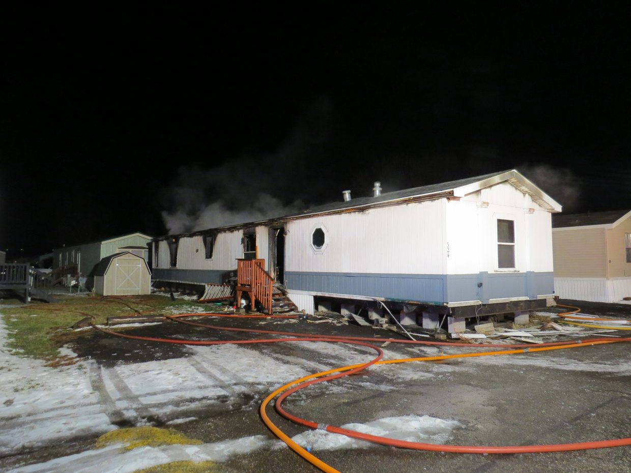 A home at Cedar Mountain Trailer Park sustained considerable fire damage early Friday morning.