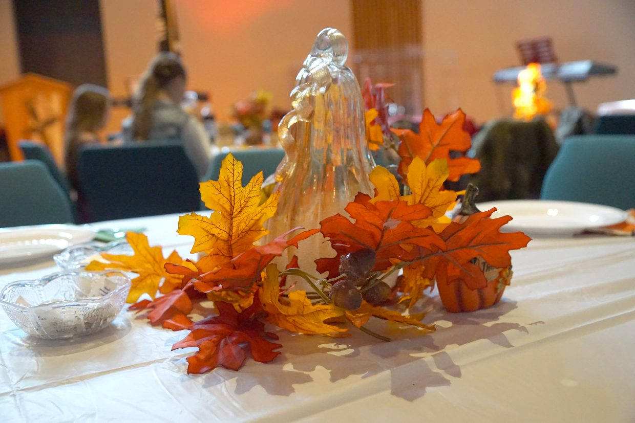 Festive center pieces decorate the Lighthouse of Craig.