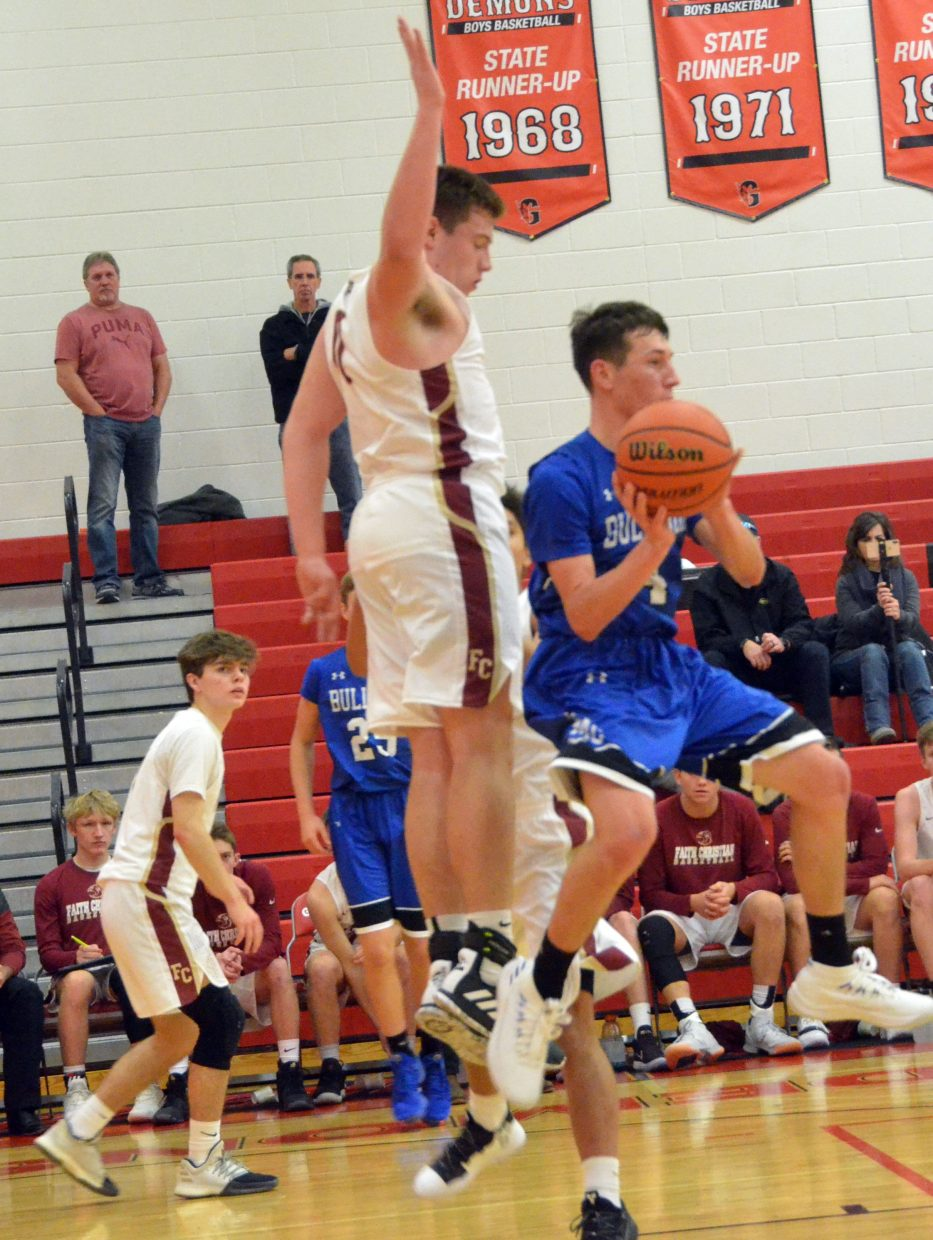 Moffat County High School's Connor Etzler whips around for a midair pass against Faith Christian.