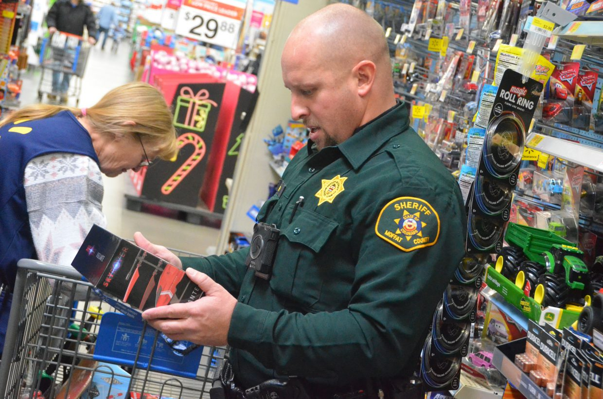 Moffat County Sheriff's Office, Colorado State Patrol and Craig Police Department were among the agencies aiding kids during Saturday morning's Shop with a Cop at Walmart.