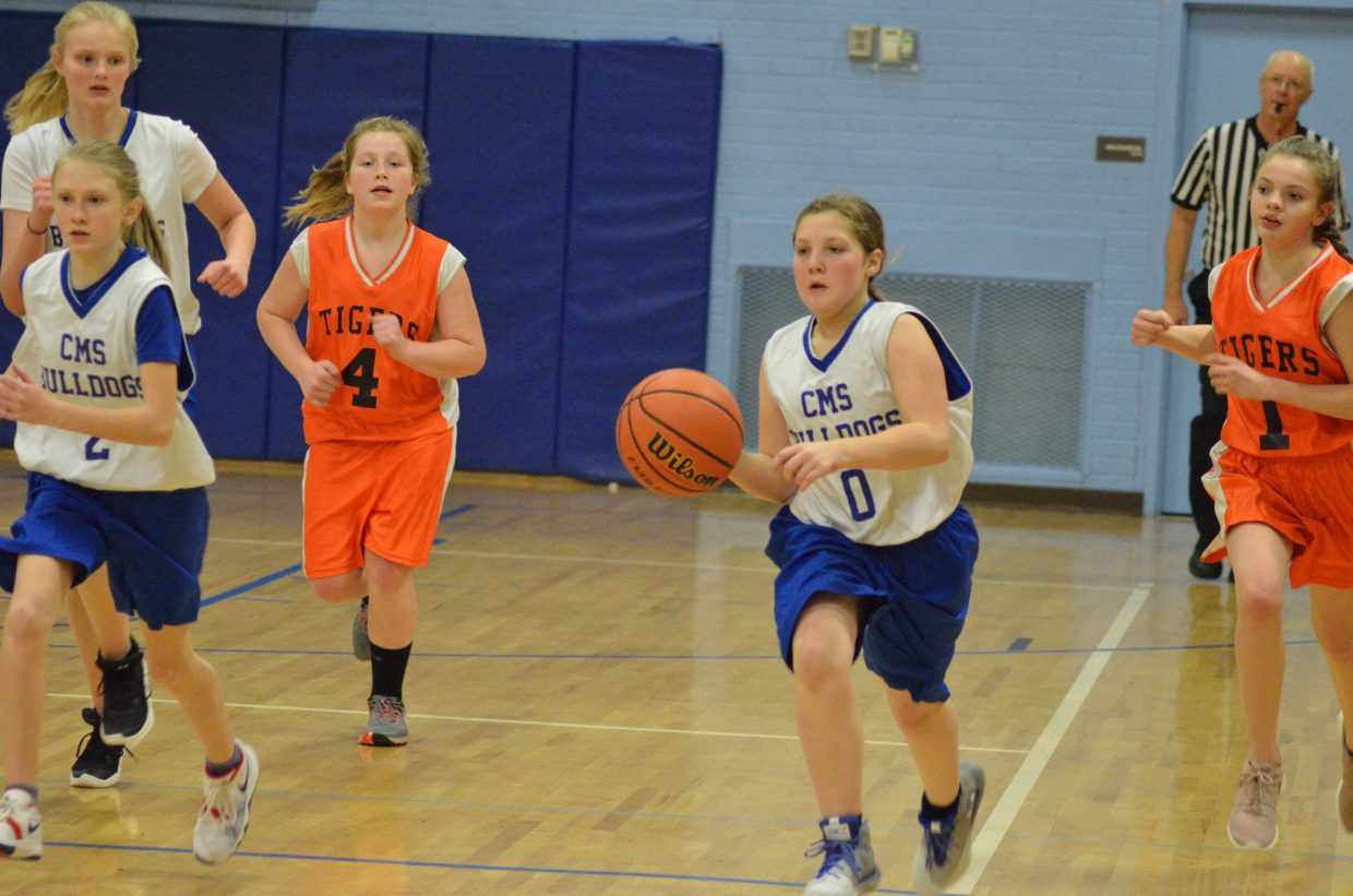 Craig Middle School's Abby Martinez regains the ball against Hayden.