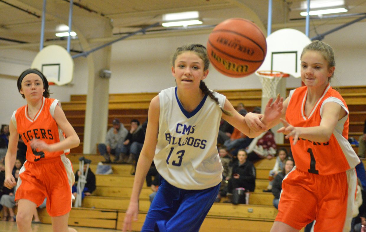 Craig Middle School's Mattie Richards goes after the ball against Hayden.