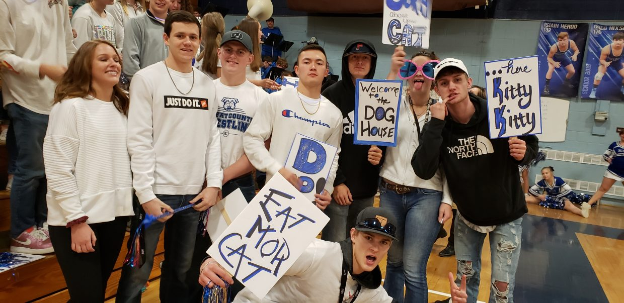 Moffat County High School students show their school spirit Friday night leading up to basketball games with Delta.