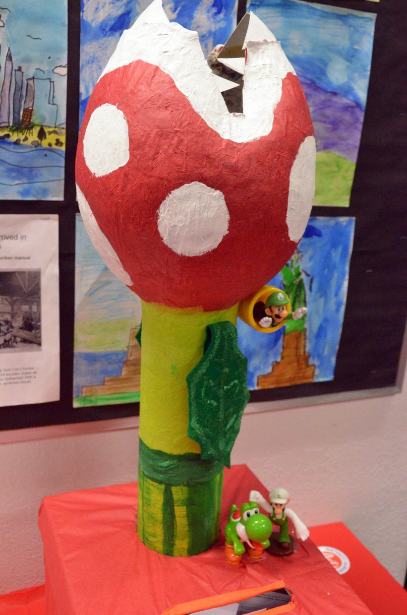 A Nintendo-themed sculpture is among the works at Northwest Colorado Arts Council's Visionary Night.