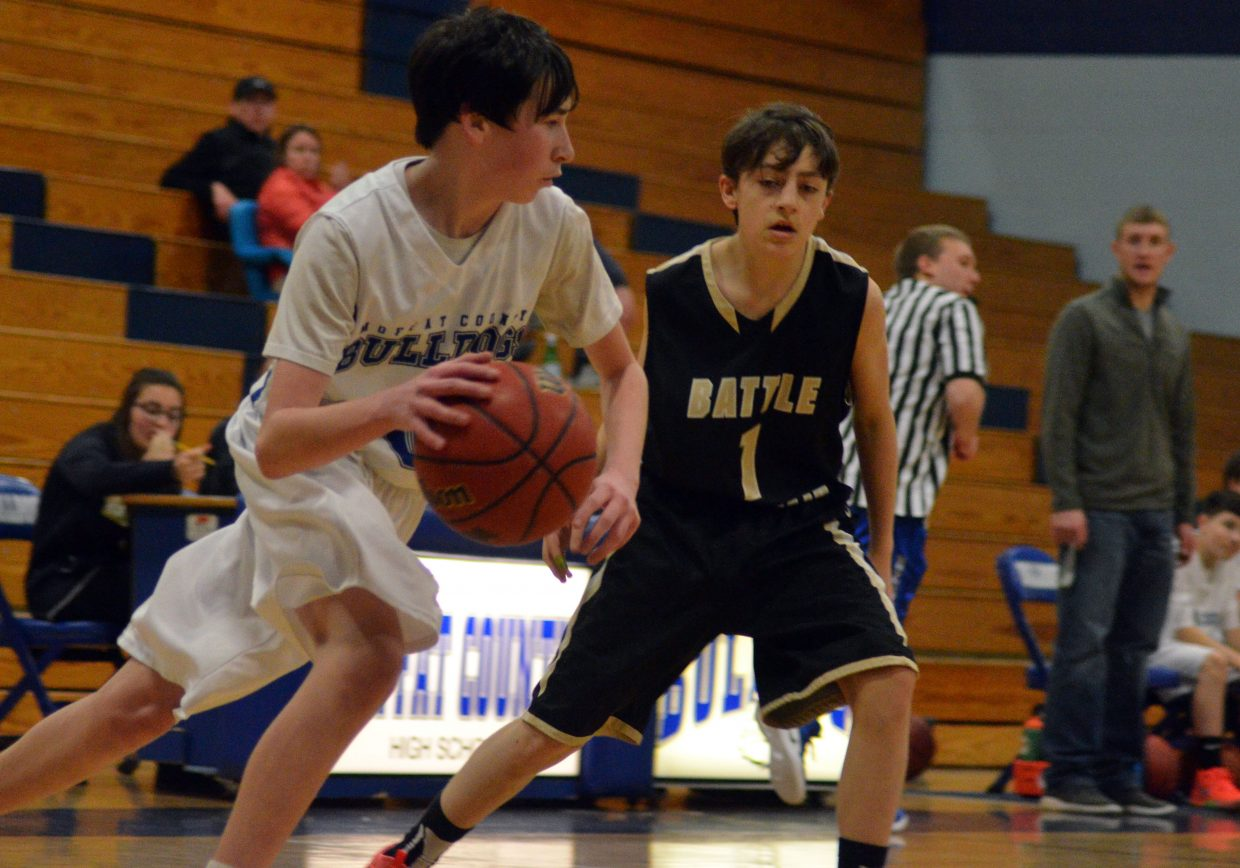 Moffat County High School's Tanner Etzler zips along against Battle Mountain.
