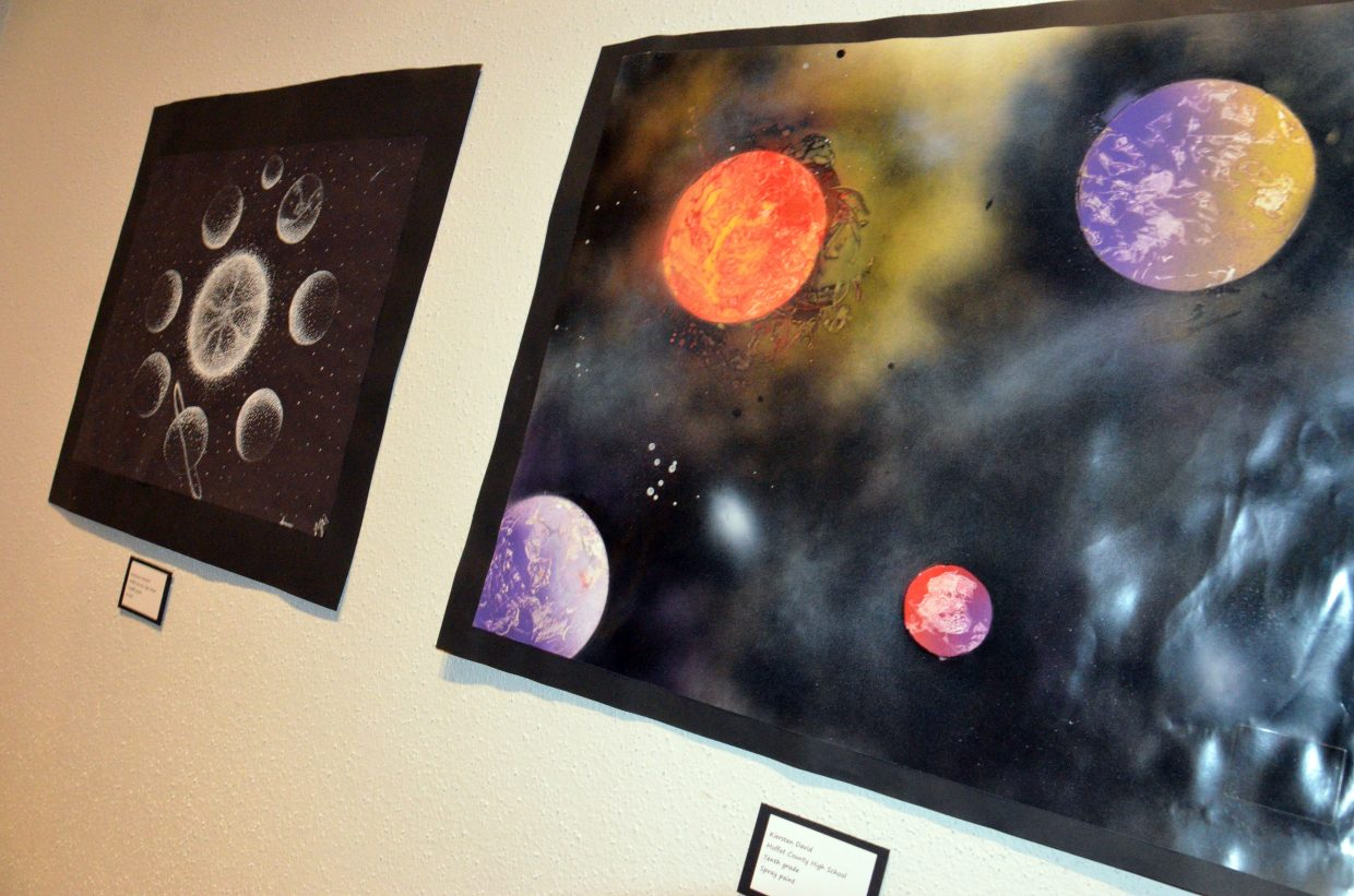 Intergalactic art on display at Cherish the Little Things Art Show.