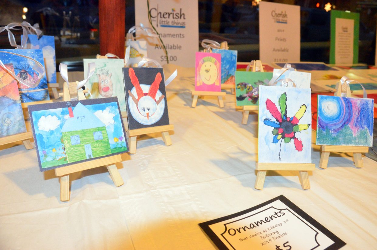 Ornament versions of the top 20 artworks are for sale at Cherish the Little Things Art Show.