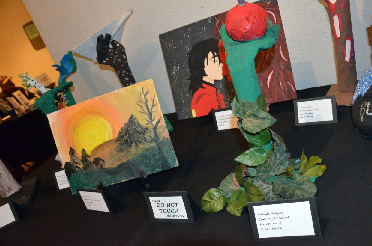 A variety of art media is on display from kids throughout Moffat County at Cherish the Little Things Art Show.