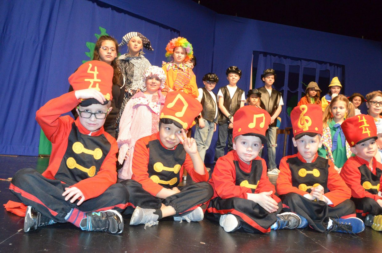 The full cast and crew of the Missoula Children's Theatre production of