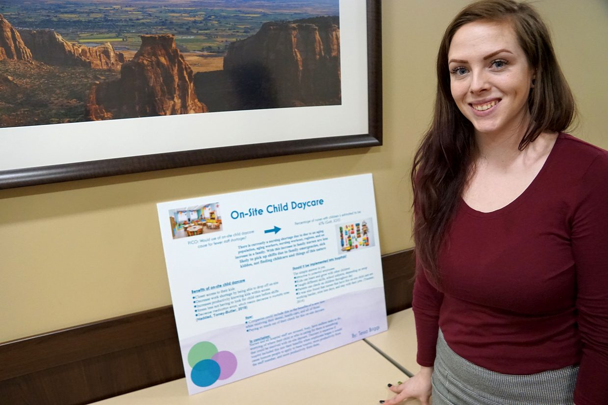 Student nurse Tessa Briggs took a look at the benefits of on-site daycare for hospital staff.
