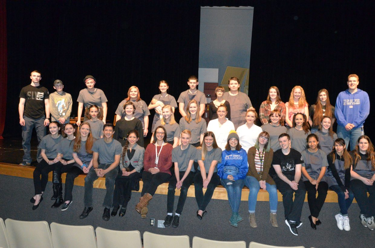 The cast and crew of Moffat County High School theater's