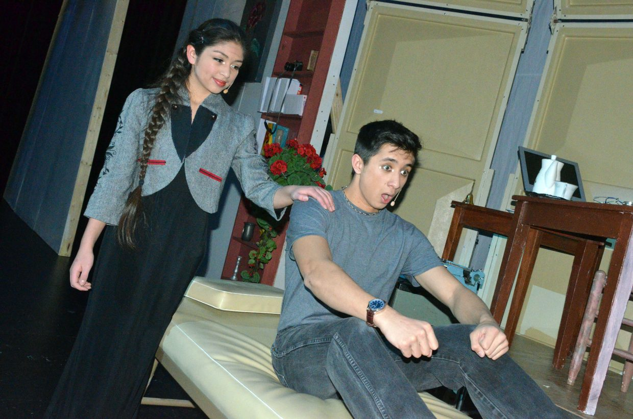 Jonas (Sambu Shrestha) experiences a new memory of sledding as imparted by the The Giver (Maria Sanchez-Silva) in