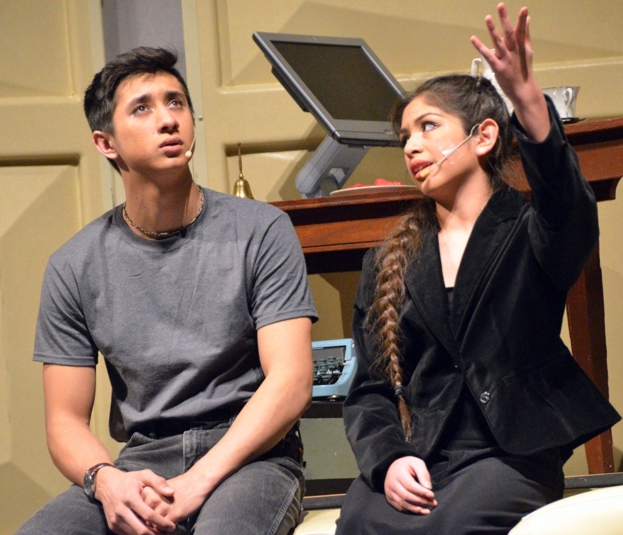 Jonas (Sambu Shrestha) and his new teacher (Maria Sanchez-Silva) have a heart-to-heart talk in