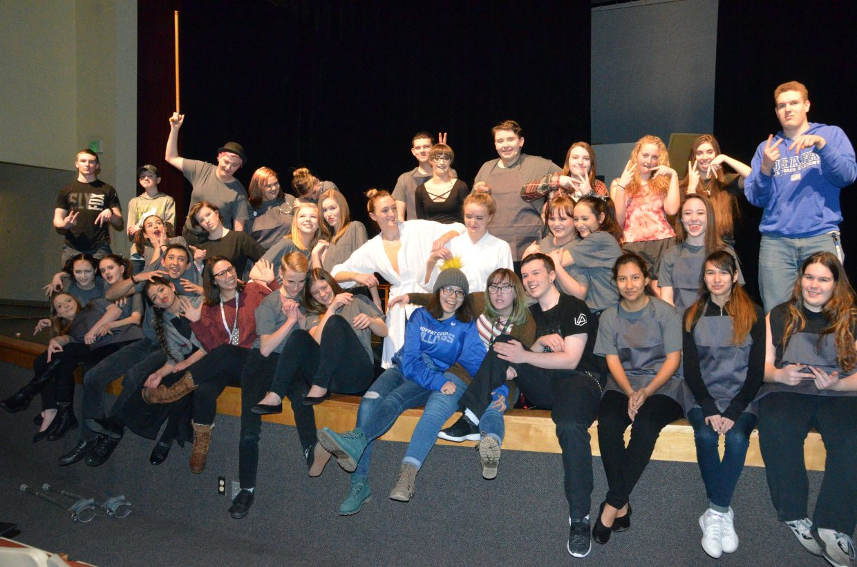 Even with a serious show, the cast and crew of the Moffat County High School theater program aren't afraid to get silly before a rehearsal for