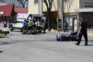 Driver cited in downtown Craig motorcycle accident