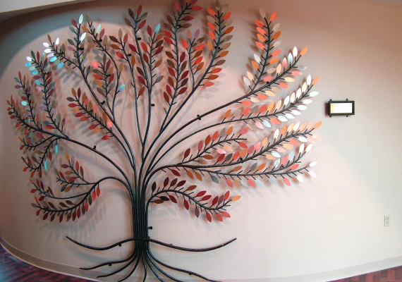 Hand-forged tree of life to grace donor recognition wall of MRH medical office building