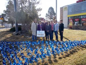 Pinwheels reminder to protect children from abuse