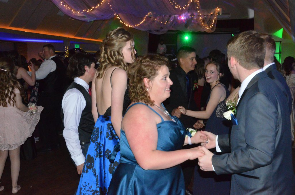 Students dance at Moffat County High School prom.